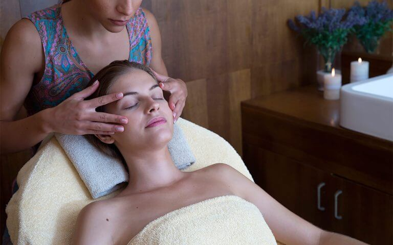 Massage in the spa from health professional