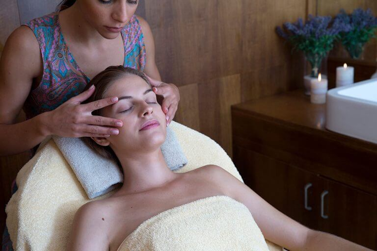 Massage in spa from health professional