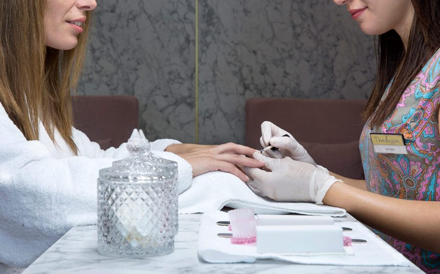 Manicure from health professional