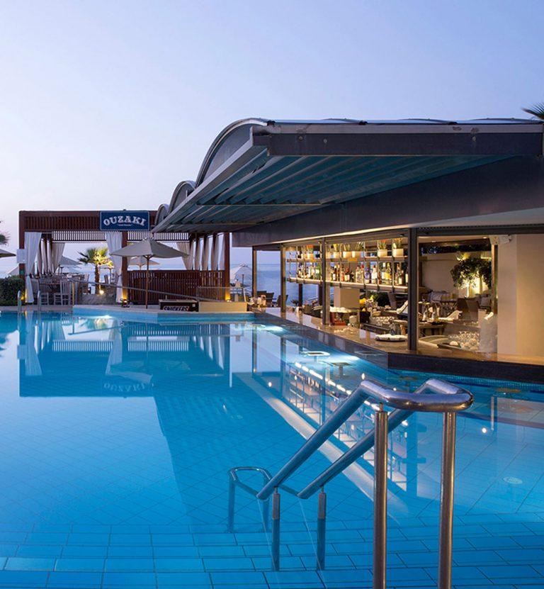 Pool bar and ouzaki restaurant